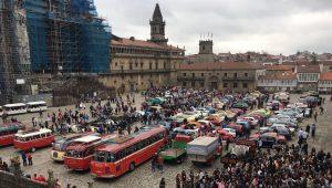 Coches clásicos en Santiago de Compostela