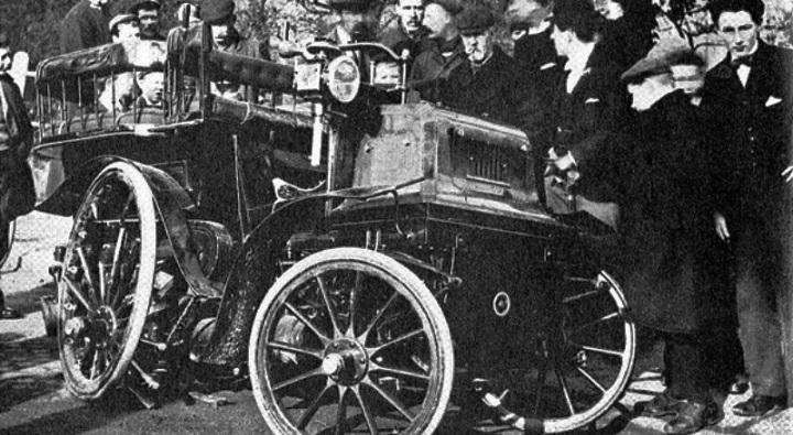 Los primeros accidentes de automóvil