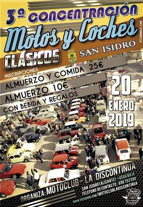 Concentración Motos y Coches Clásicos San Isidro 2019