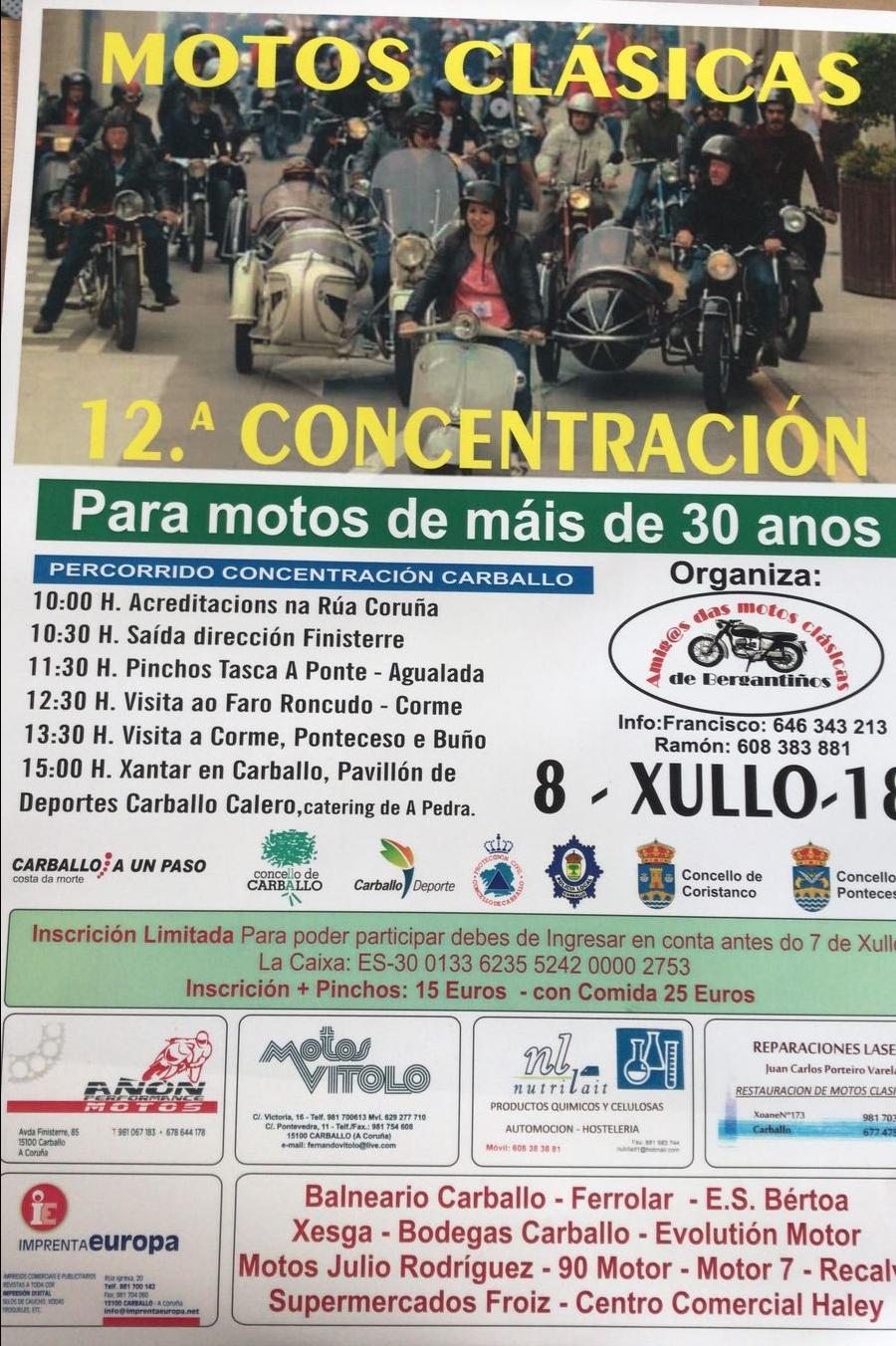 Concentración Motos Clásicas Carballo 2018